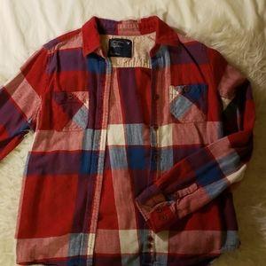 Plaid American Eagle button up shirt